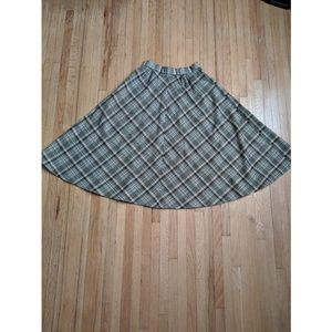 Vintage plaid wool circle skirt tartan
